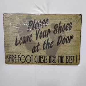 Doorway Entry Sign Barefoot Guest Are The Best!